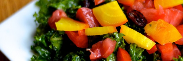 Rainbow Kale Salad