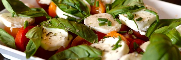 Tomato, Buffalo Mozzarella and Basil Salad
