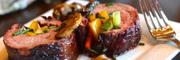 Balsamic Flank Steak with Veggies